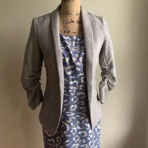 H&M herringbone blazer jacket size 2